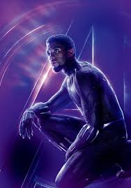 T'Challa / Black пантера Avengers 4 Character Poster