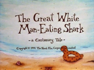The Great White Man-Eating yu, ikan jerung titlecard