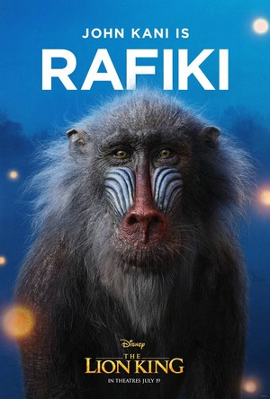 The Lion King poster - Rafiki