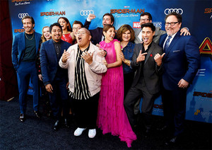 The cast of Spider-Man: Far From halaman awal at the world premiere in Hollywood, CA (June 26, 2019)