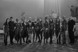 The female cast and creators of Avengers: Endgame BTS