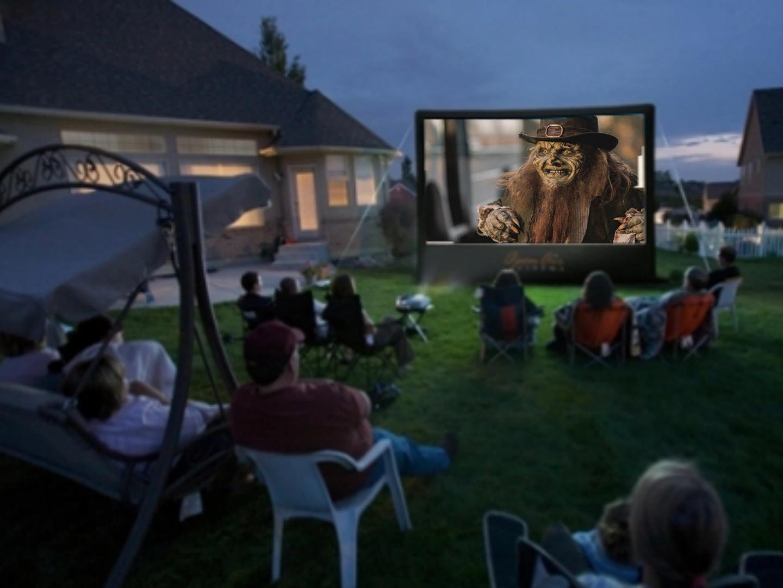 They watching Leprechaun Returns in the Backyard