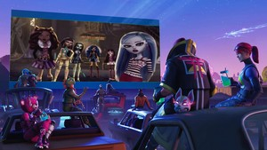 They watching Monster High Freaky Fusion in Drive In