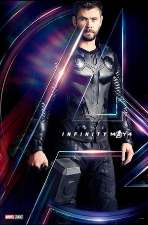 Thor Avengers Infinity War character poster