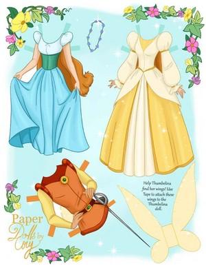 Thumbelina Paper Куклы