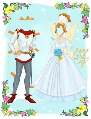 Thumbelina Paper mga manika