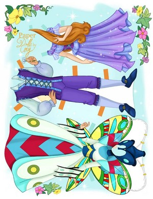 Thumbelina Paper bonecas