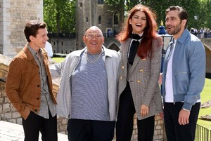 Tom, Jacob, Zendaya, and Jake in Londres for Spider-Man: Far From inicial promotion - June 17, 2019