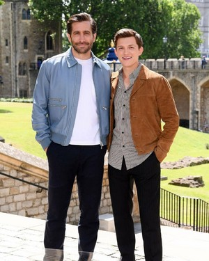 Tom and Jake in Лондон for Spider-Man: Far From Главная promotion - June 17, 2019