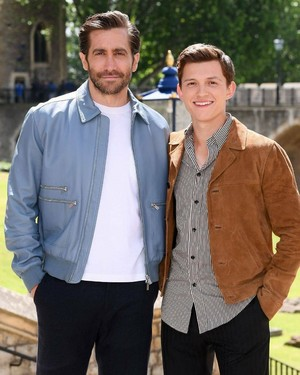 Tom and Jake in লন্ডন for Spider-Man: Far From প্রথমপাতা promotion - June 17, 2019