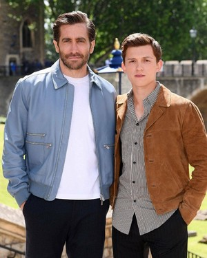 Tom and Jake in Londres for Spider-Man: Far From inicial promotion - June 17, 2019