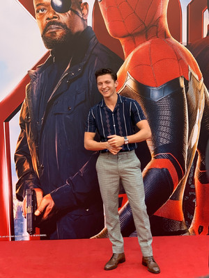 Tom at the Spider-Man: Far From 집 press event in Beijing (June 11, 2019)