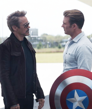 Tony Stark and Steve Rogers - Avengers: Endgame movie still