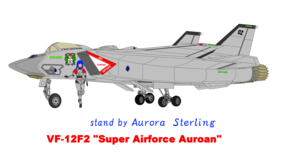 VF-12F2 Airforce Auroan and Aurora Sterling ( stand bởi Aurora Sterling )