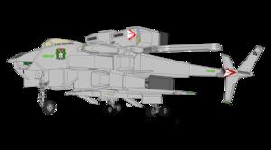 VFH-10B Auroran AGAC clean wing , remove TLM-1 semi - fixed raket launcher