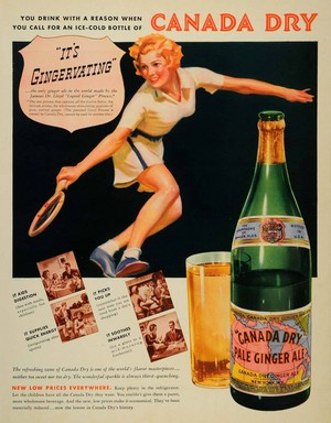 Vintage Promo Ad For Canada Dry