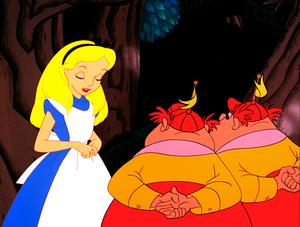 Walt 디즈니 Screencaps - Alice, Tweedle Dee & Tweedle Dum