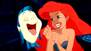 Walt Disney Screencaps – cá bơn, bồ câu & Princess Ariel