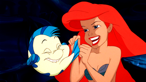 Walt ディズニー Screencaps – ヒラメ & Princess Ariel