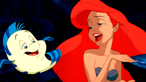 Walt Disney Screencaps – menggelepar, flounder & Princess Ariel
