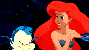 Walt Disney Screencaps – Flounder & Princess Ariel