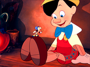Walt Disney Screencaps - Jiminy Cricket & Pinocchio