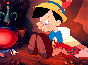 Walt ディズニー Screencaps - Jiminy Cricket & Pinocchio