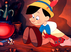 Walt Дисней Screencaps - Jiminy Cricket & Pinocchio