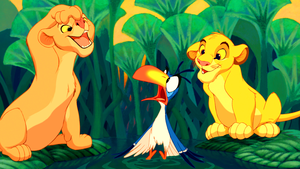 Walt ডিজনি Screencaps - Nala, Zazu & Simba