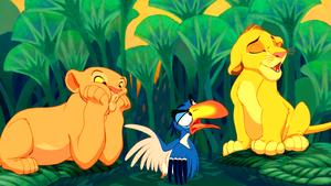 Walt ডিজনি Screencaps - Nala, Zazu & Simba