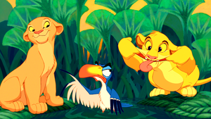 Walt 迪士尼 Screencaps - Nala, Zazu & Simba