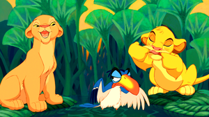 Walt डिज़्नी Screencaps - Nala, Zazu & Simba