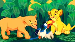 Walt Дисней Screencaps - Nala, Zazu & Simba