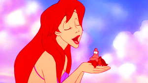Walt डिज़्नी Screencaps – Princess Ariel & Sebastian
