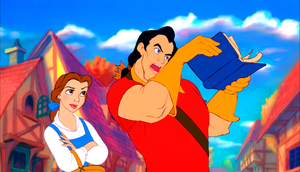 Walt ডিজনি Screencaps - Princess Belle & Gaston