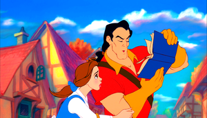 Walt Дисней Screencaps - Princess Belle & Gaston