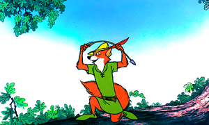 Walt 디즈니 Screencaps - Robin 후드