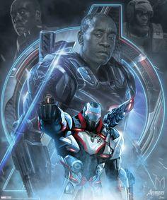 War Machine Avengers Endgame character poster