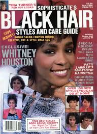 Whitney Houston On The Cover Of Bleck Hair