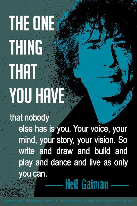 Writer's Quote- Neil Gailman