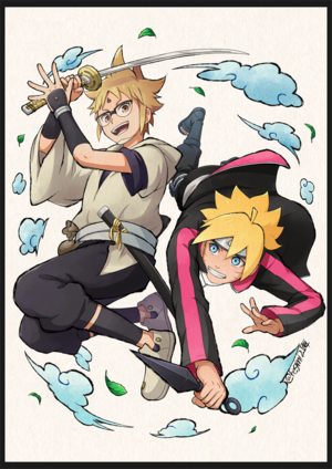 boruto and hachimaru