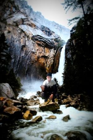 lloyhcen lahcen in waterfall