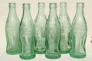 Vintage Glass Coca-Cola Bottles