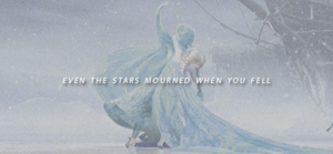 """""""Even the stars mourned when you fell"""""""