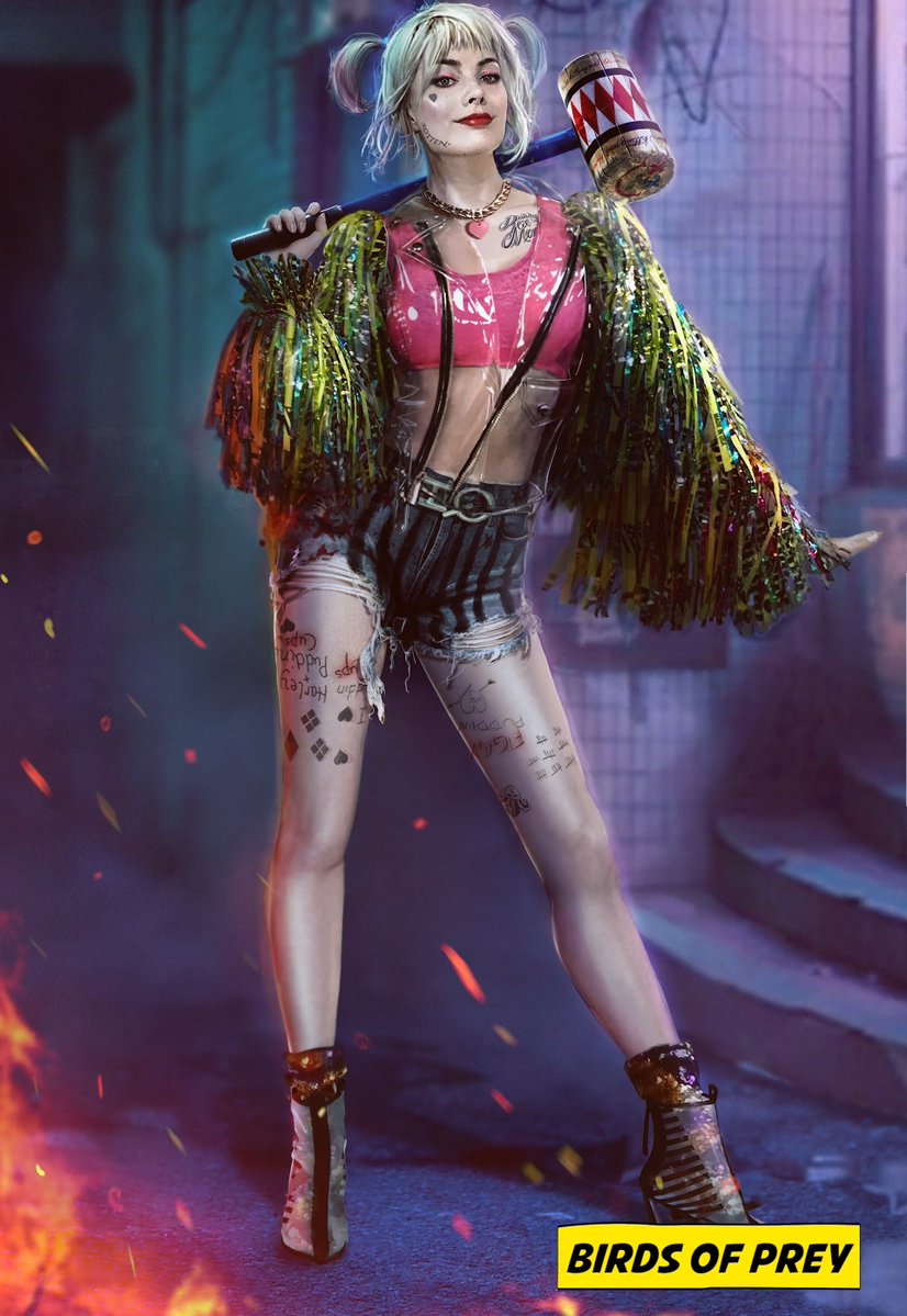 Official 'Birds Of Prey' Concept Art ~ Harley Quinn