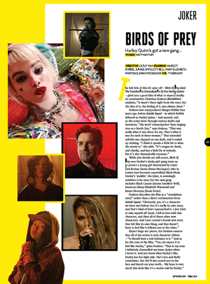 'Birds Of Prey' Feature in Total Film Magazine