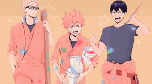 ☆ pallavolo boys painting a mess! ☆