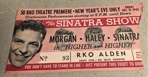 1943 ticket stub christmas eve