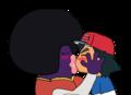 AfroJynx Kissing Ash - ash-ketchum fan art