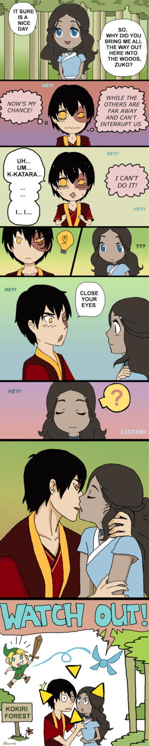 Almost Kiss Zutara Comic